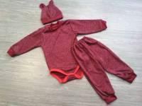 Комплект бодики+штаны+шапочка стрейч начес (вязка)